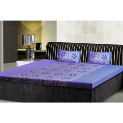 India Furnish Double Bedsheet Set With 2 Pillow Covers (IFBST15001), blue