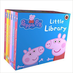 Peppa Pig: Little Library Board book Paperback (English)
