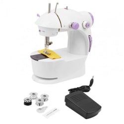 Portable 4 in 1 Mini Sewing Machine With Foot Pedal,Bobbin & Adapter (No Shipping Cost)