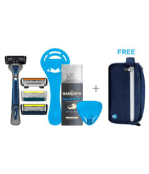 LetsShave Executive Shaving Kit ( 1 Razor + 3 Cartridges + 1 Shave Foam + Carry Bag)