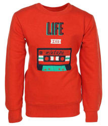 Haig-Dot Red Fleece Sweatshirt