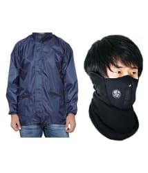 MotRoX Biker Windcheaters for Winters/Rain with Anti Pollution Neoprene Face Mask