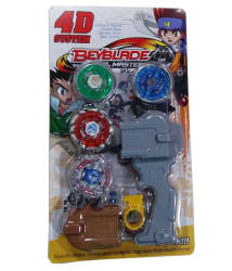 Beyblade 4d System 4 Metal Beyblade and 1 launcher.
