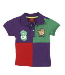 Lilliput Purple Cotton Half Sleeves T-shirts
