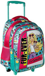 Barbie Polyester 16 inch Turquoise Children s Backpack (MBE - MAT138)