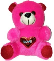 COST TO COST Soft junior love teddy full pink - 7 inch (Pink)