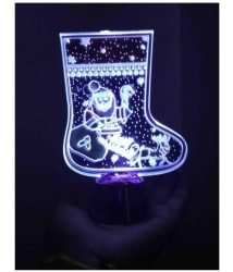Rrammg Gifts Merry Christmas Rotating Light Multi