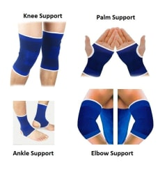 RW Fitness Combo of Pair of Ankle, Knee, Palm & Elbow Support/ Gym Accessories/ Gym Essentials