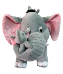 Anukriti Creations Mother Elephant with Two Babies - 45 cm