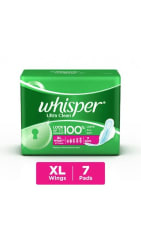 Whisper Ultra Sanitary Pads Extra Large Plus Wings 7 pc Pack (pack of 4)