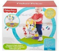 Fisher-Price Bounce and Spin Zebra Multicolor