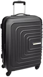 American Tourister Sunset Square ABS 67 cms Black Hard Sided Suitcase (AMT SUNSET SQUARE SP67 BLACK)