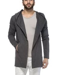 Tinted Men s Cotton Blend Hooded Full Sleeve Cardigan