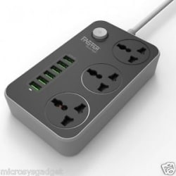 LDNIO USB POWER PLUG 6 USB PORT AUTO MAX 3.4A WITH 6 MONTHS MFG WARRANTY