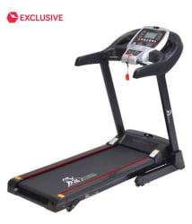 Fit24 Fitness Motorized Treadmill/Gym Equipment with Auto-lubrication and Bluetooth T-606