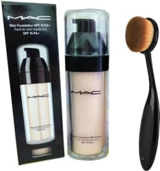 M.A.C SKIN FOUNDATION SPF 15 PA+ WITH 1 OVAL BRUSH (Set of 2)