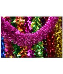 Unique Arts & Interiors PVC Multicolour Christmas Tree Decoration-(Pack of 5)