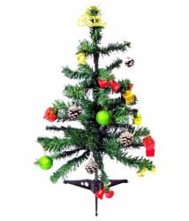 Unique Arts & Interiors. Plastic Christmas Tree Multicolour-3 Ft -(Pack of 1)