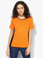 Orange Solid Blouse