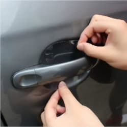 NiX 015 Car Accessories 4PCS Car Stickers Car Door Handle Scratch Protector Film