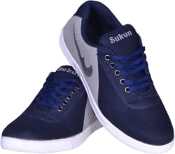Sukun Canvas Shoes For Men (Blue, Grey)