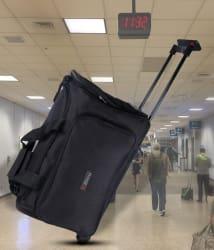 Bleu Amazing Black 2 Wheel Overnighter Travel Bag with Trolley