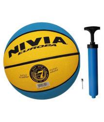 Nivia Europa Basketball with Air Pump