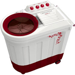 Whirlpool 7.5kg Ace 7.5 Turbodry Semi-Automatic Top Loading Washing Machine (Flora Red)