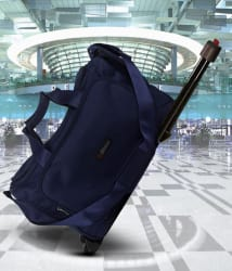 Bleu Amazing Blue 2 Wheel Overnighter Travel Bag with Trolley