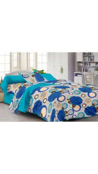 Story@Home Cotton Multicolor 1 Bedsheet With 1 Pillow Cover