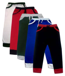 Heart Beat Girls Pack Of 5 Solid Trackpants (Green,Red,Black,Royal,White)