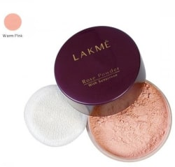 Lakme Rose Powder with Sun Screen Compact (Warm Pink)