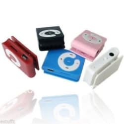 Portable Mini Multi Color Mp3 / Mp4 Music Player With Headset & USB Charger iPod