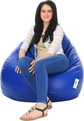Can bean bags XXL Bean Bag With Bean Filling (Blue)