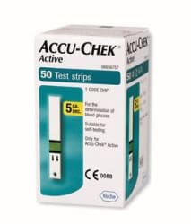 Accu-Chek 50 Test Strips for Active Glucometer with 1 Code Chip Expiry 2019