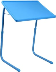 Frazzer Blue Adjustable Plastic Portable Laptop Table (Finish Color - BLUE)