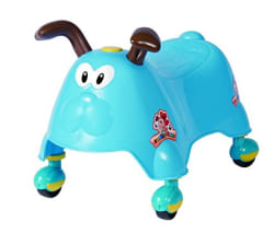 Saffire Cute Animal Glide Ride On, Sky Blue