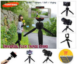 Universal Mobile Phone Holder Flexible Stand Tripod Mount Camera Desk Table Hold