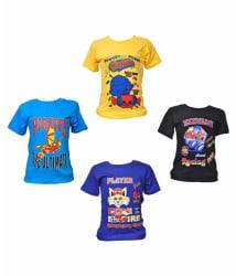 Pari & Prince Multicolour Cotton T-Shirts - Pack of 4