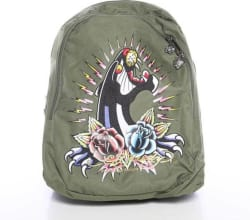 Ed Hardy by B1JOSPAN Backpack (Khaki, 12 inch)