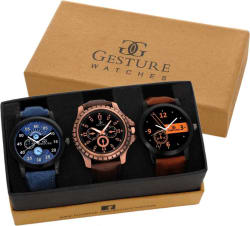 Gesture EXCLUSIVE Combo Of -7800 Elegant Watch - For Men