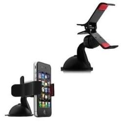Details about Car Mobile Holder Mount Bracket Holder Stand 360 Degree Rotating (Black)