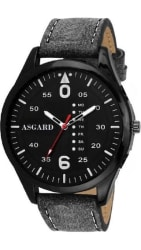 ASGARD Classy Black Dial Watch for Men, Boys-BK-BK-96