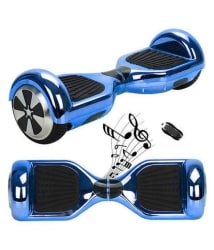 Skywings Self Balancing Blue Hoverboard (With Bluetooth, Remote & Carry Bag)