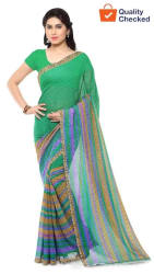 Anand Sarees Faux Georgette Multi Color Printed Saree With Blouse Piece
