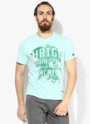 Church Green Printed Round Neck T-Shirt