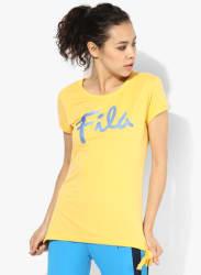 Topaz Yellow Round Neck T-Shirt