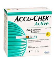 Accu-Chek Active 100 Test Strips, 2*50 Strips EXPIRES- 6 / 2019