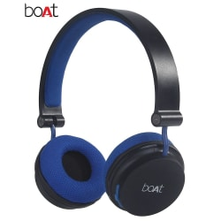 boAt Rockerz 400 On-Ear Bluetooth Headphones (Black & Blue)