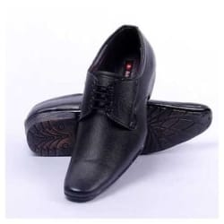 Foot n Style Refined Black Derby Shoes(Size-7)